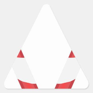 candy cane heart triangle sticker