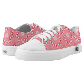 Candy Cane Kaleidoscope Christmas Shoes Low Top