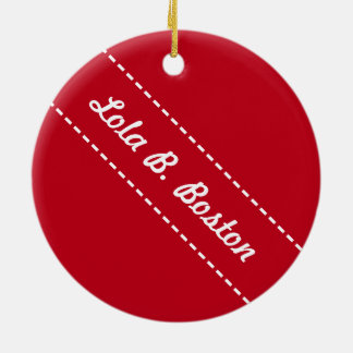 Candy Cane Kisses - Lola B. Boston Ornament