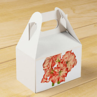 Candy Cane Lilies on a Gable Favor Box