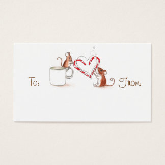 Candy Cane Mice Gift Tags