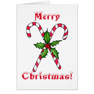 Candy Cane Note Card