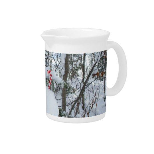 Candy Cane Outdoors Decoration Pitcher