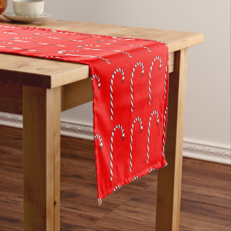 Candy Cane Pattern Table Runner
