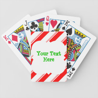 Candy Cane Personalized Bicycle Playing Cards