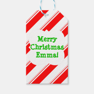 Candy Cane Personalized Gift Tags