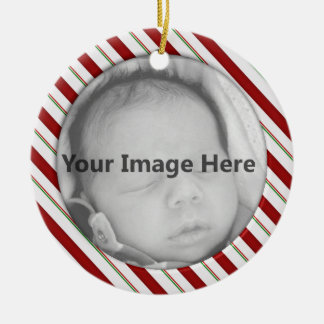 Candy Cane Photo Template Ornament