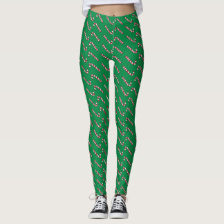 Candy Cane Print leggings