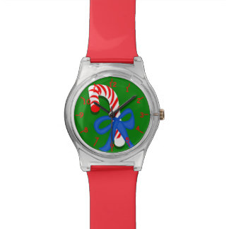 Candy Cane Red and Green Watch