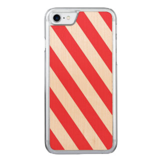 Candy Cane Red and White Diagonal Stripes Carved iPhone 8/7 Case