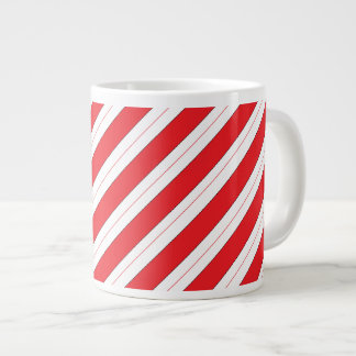 Candy Cane Red Stripes Large Coffee Mug