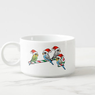 Candy Cane Santa Budgies Bowl