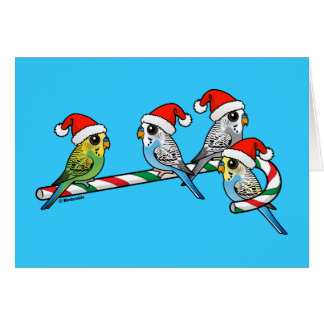 Candy Cane Santa Budgies Card