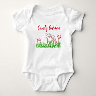 Candy Cane Sorrel Garden Baby Bodysuit