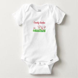 Candy Cane Sorrel Garden Baby Onesie