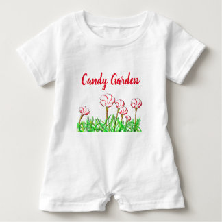 Candy Cane Sorrel Garden Baby Romper