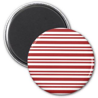 Candy-Cane-Stripe #13 2 Inch Round Magnet