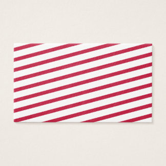candy cane stripe business card