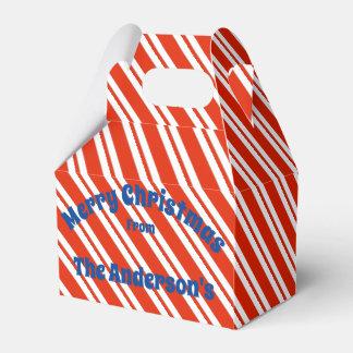 Candy Cane Stripe Christmas Gift Box