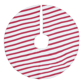 candy cane stripe faux linen tree skirt