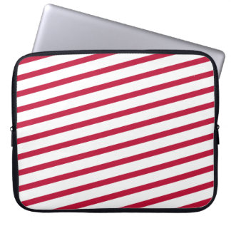 candy cane stripe laptop sleeve