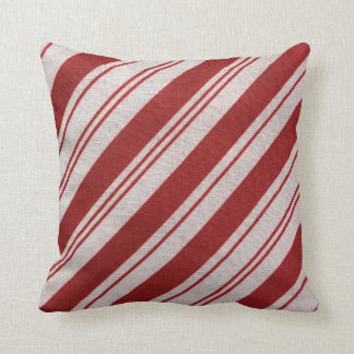 Candy Cane Stripe Throw Pillow