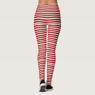 candy cane stripe Woman's Leggings, Yoga Leggings