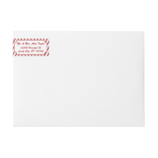 Candy Cane Stripe Wraparound Address Label