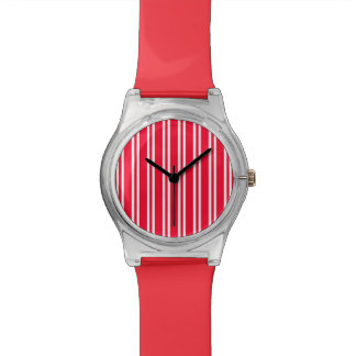 Candy Cane Stripe Wrist Watches
