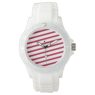 candy cane stripe wristwatch