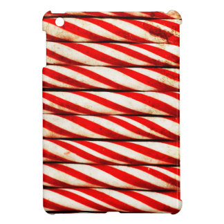 Candy Cane Striped Red White Christmas Decoration iPad Mini Cover