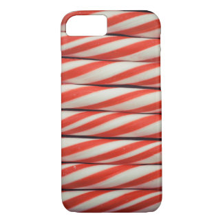 Candy Cane Striped Red White Christmas Decoration iPhone 8/7 Case