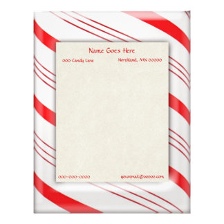Candy Cane Stripes Border Letterhead