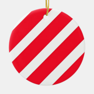 Candy Cane Stripes Ceramic Ornament