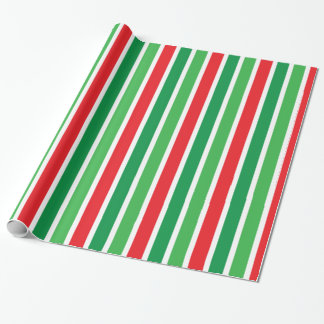 Candy Cane Stripes Christmas Wrapping Paper