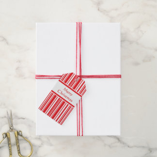 Candy Cane Stripes Gift Tags