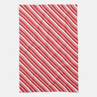 Candy Cane Stripes Kitchen Towel