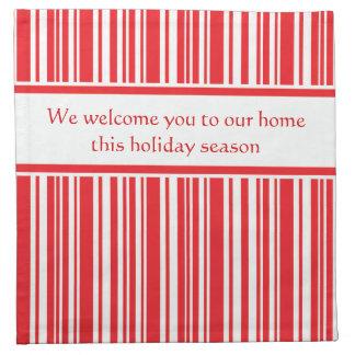 Candy Cane Stripes Napkin