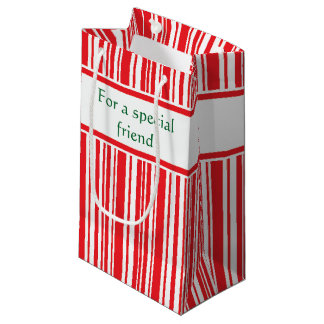 Candy Cane Stripes Small Gift Bag