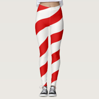 Candy Cane Stripped Leggings