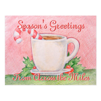 Candy Cane Tea Postcard