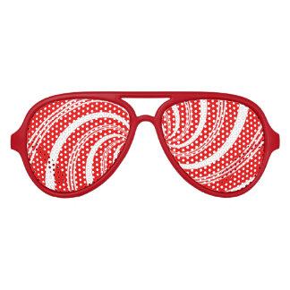 Candy Cane Twirl Aviator Sunglasses