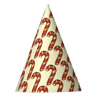 Candy Cane Twist Christmas Cookie Holiday Baking Party Hat