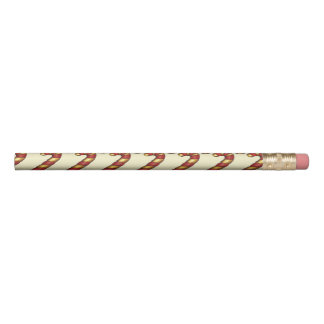 Candy Cane Twist Christmas Cookie Holiday Baking Pencil