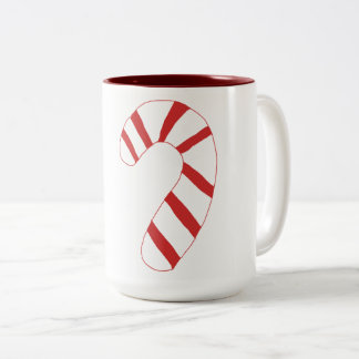 Candy Cane Two-Tone Coffee Mug