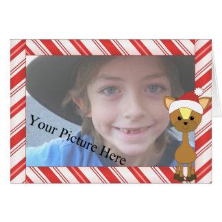 Candy-Cane Wayne Deer Card