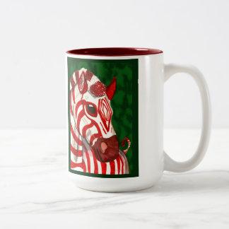 Candy Cane Zebra Christmas Mug