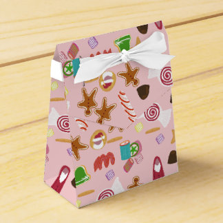 Candy Canes and Chocolates on Pink Favor Box