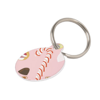 Candy Canes and Chocolates on Pink Pet Name Tag