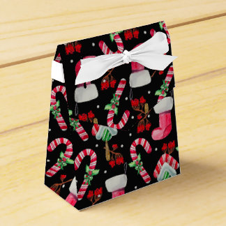 Candy Canes and  Christmas Stockings Favor Box
